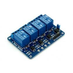 4 kanaals relais module met LED indicatie 5v.