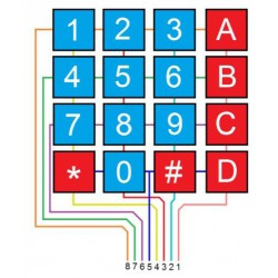 Keypad Membraam 4x4