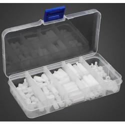 120 stuks M3 Nylon zeskant afstandhouders kit