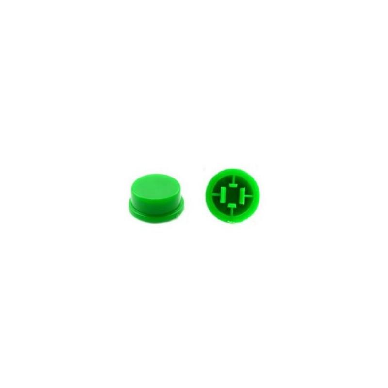 Ronde kap voor 12x12x7.3 schakelaar Groen
