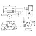 3x6x3.5mm SMD Switch/Drukknopschakelaar