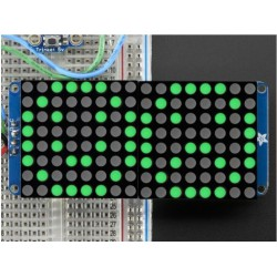 16X8 1.2inch LED Matrix Ronde LEDs - Groen