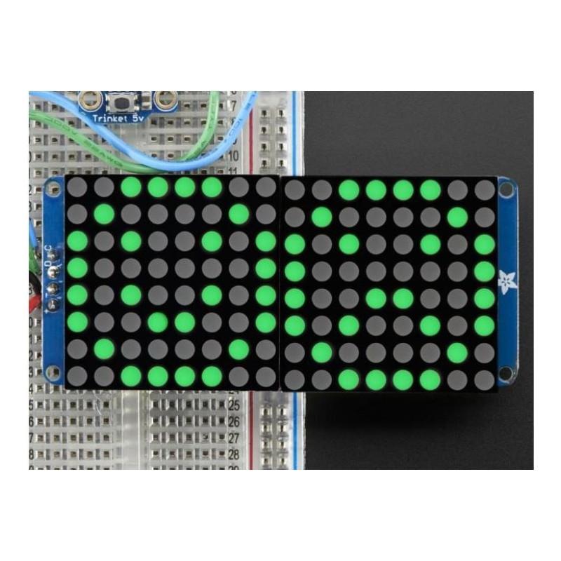 16X8 1.2inch LED Matrix Ronde LEDs - Groen