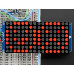 Adafruit 16X8 LED Matrix + backpack - Rood