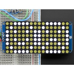 Adafruit 16X8 LED Matrix + backpack - Wit