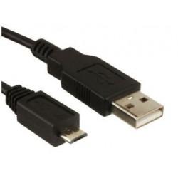 USB-kabel, Type A/Type B, 1 m, Zwart