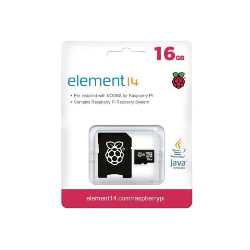 16GB MicroSD Card met NOOBS voor Raspberry Pi