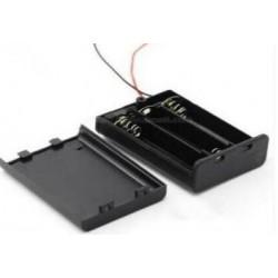 3X AA batterijhouder Box, met deksel en schakelaar(aan/uit)