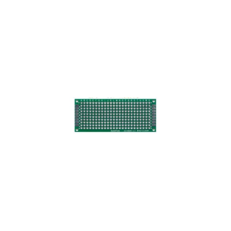 PCB dubbelzijdig 30x70mm