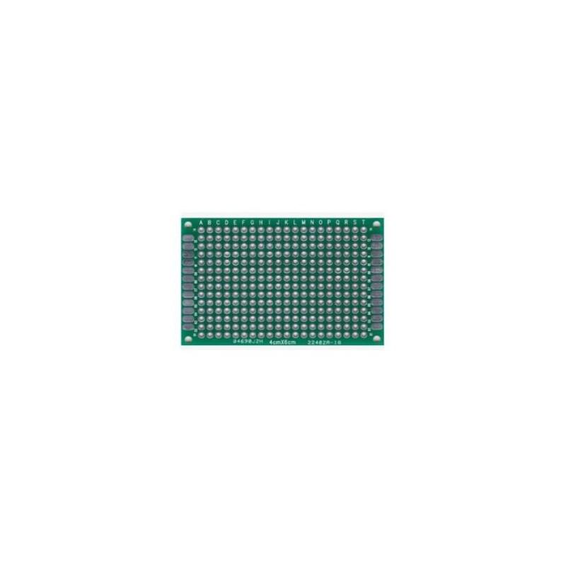 PCB dubbelzijdig 50x70mm