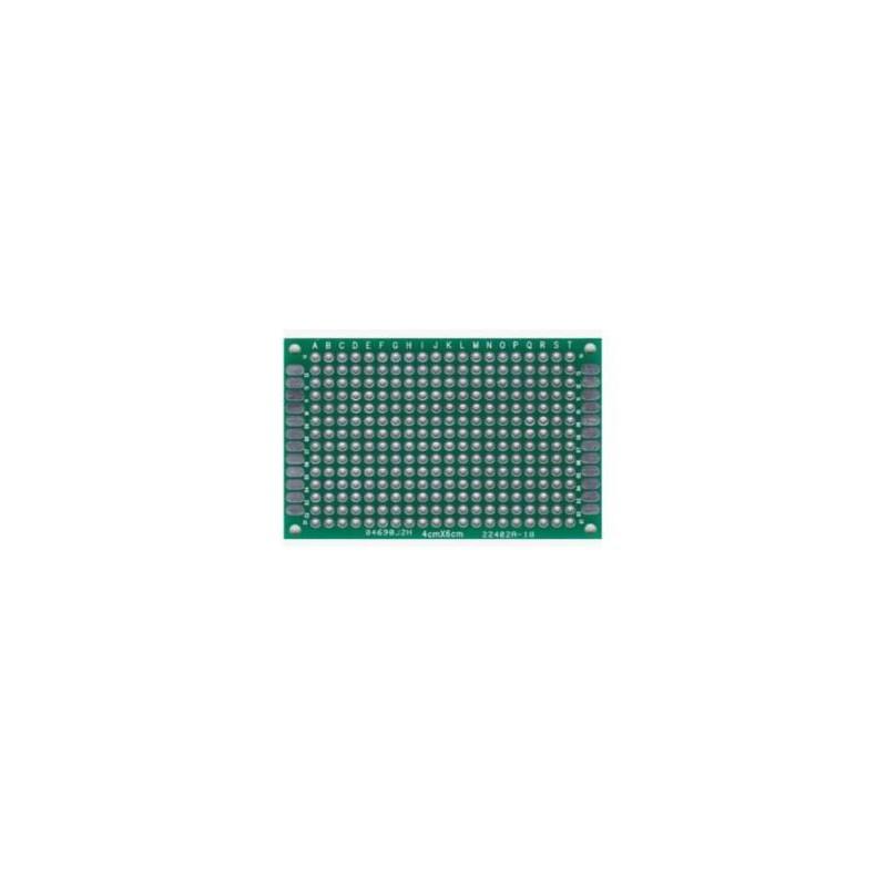 PCB dubbelzijdig 60x80mm