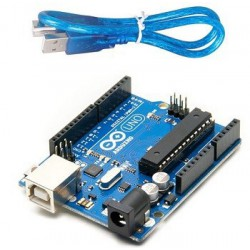 Arduino Uno Rev3 met USB Kabel in doos