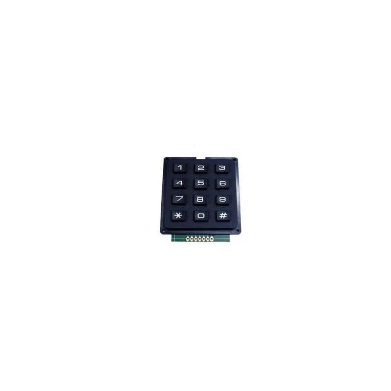 Zwart keypad 3*4