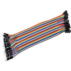 Male to Female 20cm BreadBoard jumper wire 20st