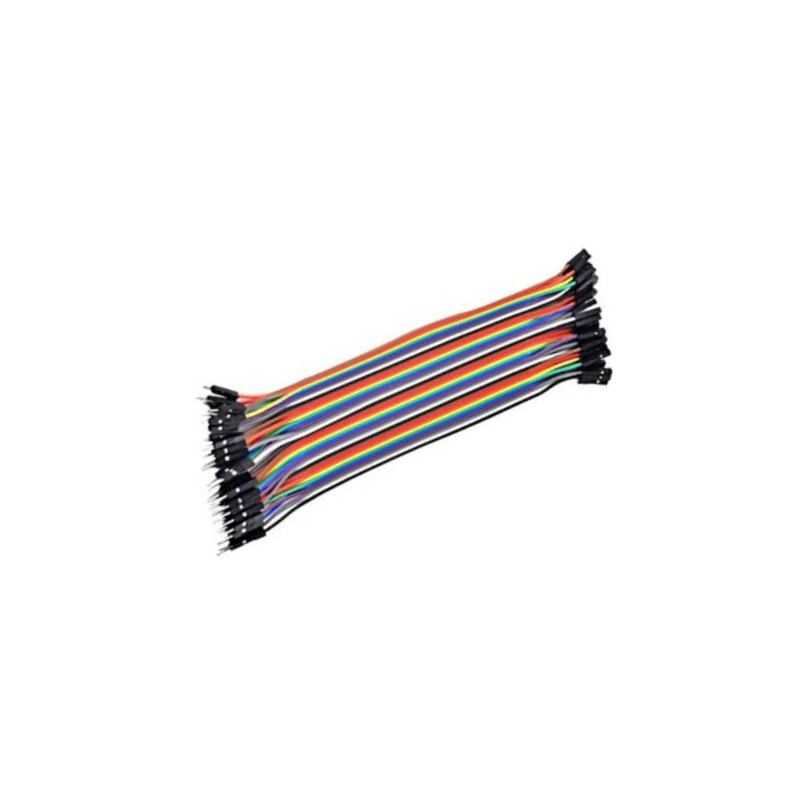 Male to Female 20cm BreadBoard Kabel 20st