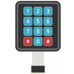 Keypad Membraan 4x3