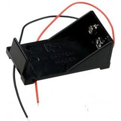 9V Blokbatterij houder, open