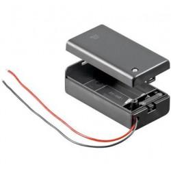9V Blokbatterij houder, gesloten dmv deksel