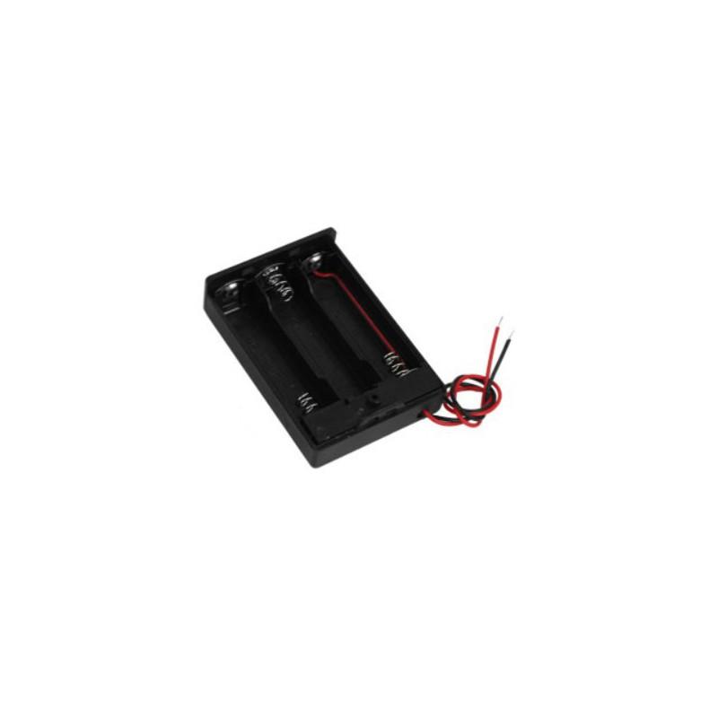 3X AA batterijhouder Box, open