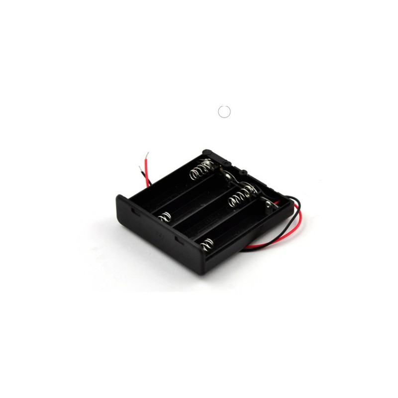 4X AA batterijhouder Box, open