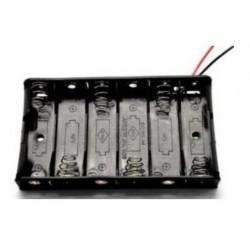 6X AA batterijhouder Box, open