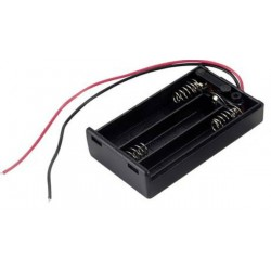 3X AAA batterijhouder Box, open