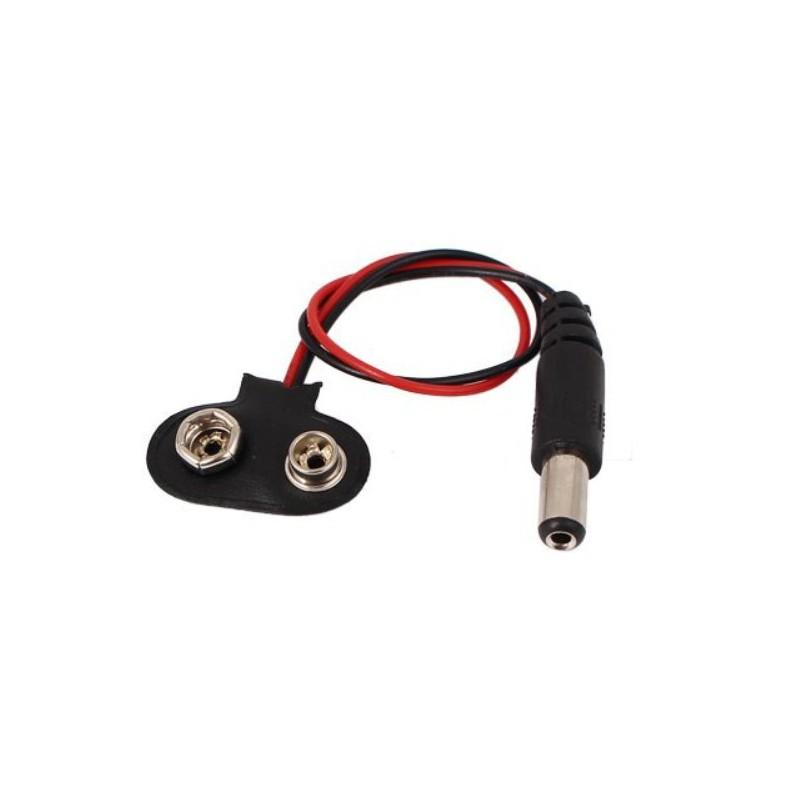 9V Batterij connector DC plug 5.5 mm