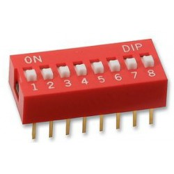 Dip Switch 8-pins