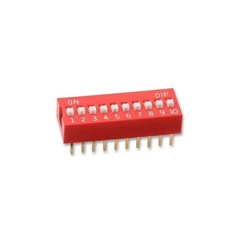 Dip Switch 10-pins