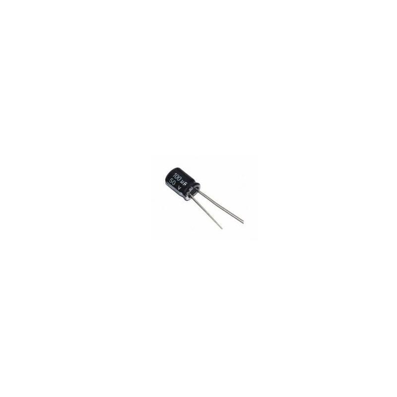 100uF 50V Elektrolytische Condensator 6x12mm
