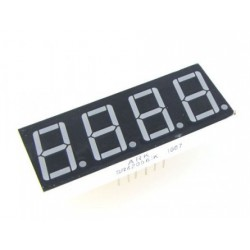 Red 4 Digit 7 Segment LED Display