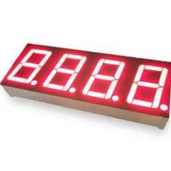 Red 4 Digit 7 Segment LED Display
